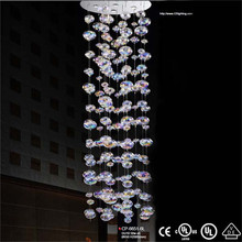 Luxurious Crystal Chandelier colorful ball lights handmade candelabra wrought iron