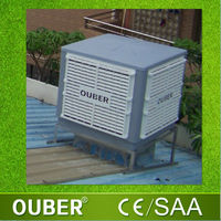 Industrial roof mounted evaporative air cooler / poultry farm air cooling system