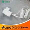 Blanco de suministro de energía 9v700ma adaptador de ca con sobre/interruptor de apagado