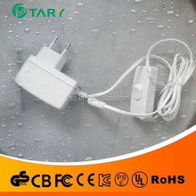 white power supply 9v700ma ac adapter with on/off switch