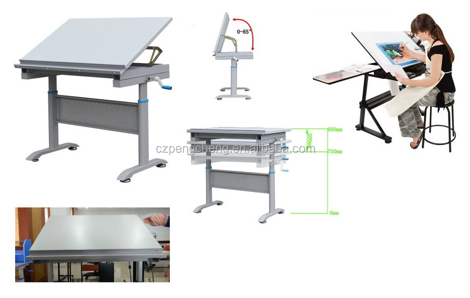 Engineering drawing table with t scale view drawing table for Architecture t scale