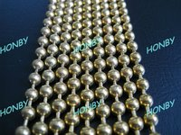 Gold Metal Ball Chain Curtain