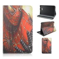 Factory Spider-man Durable Tablet Case for Samsung Galaxy Tab 3 Lite T110, 7 Inch Folio Flip Stand PU Leather Cover