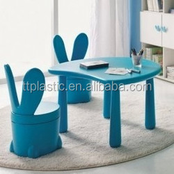 lovely animal plastic children tables and chairs