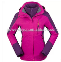 Colorful power life ski snow wear winter jacket for women 2015