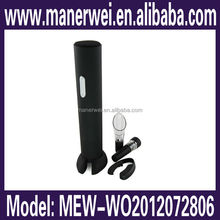 New fashion ABS+matte finishing black colour bottle shaped electric wine opener