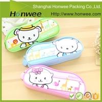 cheap cute custom printed beautiful cartoon pvc pencil case for kids