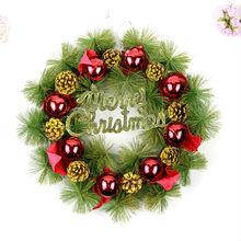 Venta al por mayor decoraciones, accesorios para árboles de navidad guirnaldas, conos de pino guirnalda de la navidad
