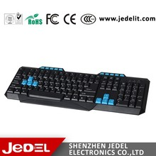 Spanish Super Slim 104 and 10 Hot Keys Wired Multimedia Keyboard with USB connection