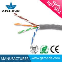 Ethernet lan Cable CU/CCA/CCAG/CCAS conductor 4 pair utp cat 5e cable cooper 305m