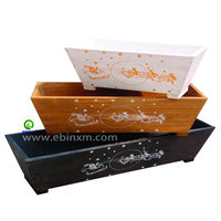 XEK0804 Oblong Bulk Wooden Flower Pots
