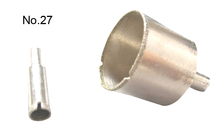 Glass drilling use and core drill bit type electroplated diamond core bits