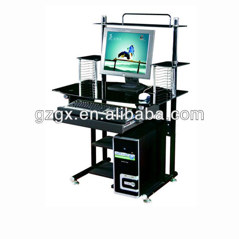 gx 804 noir de table d 39 ordinateur en verre guangzhou meubles tables en verre id du produit. Black Bedroom Furniture Sets. Home Design Ideas