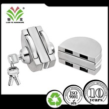 China commercial sliding frameless tempered glass door hook key lock