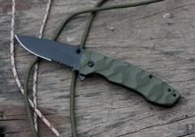 Yangjiang Black Coating Survival Serrated Folding Knife