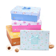 2015 best sale environmental nested coated paper gift box gift paper box for birthday wholesale