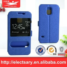 Leather Flip View Window Smart Cover Case For S5 MINI