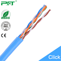 China Famous Cable Factory 24AWG 100% bare copper 4Pairs Cat 5e Network Cable