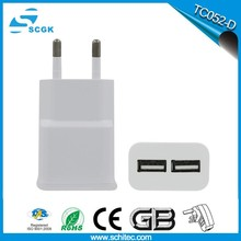 Mobile phone travel charger EU plug for samsung charger wall adapter
