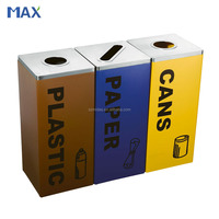 stainless steel recycling waste segregation color coding