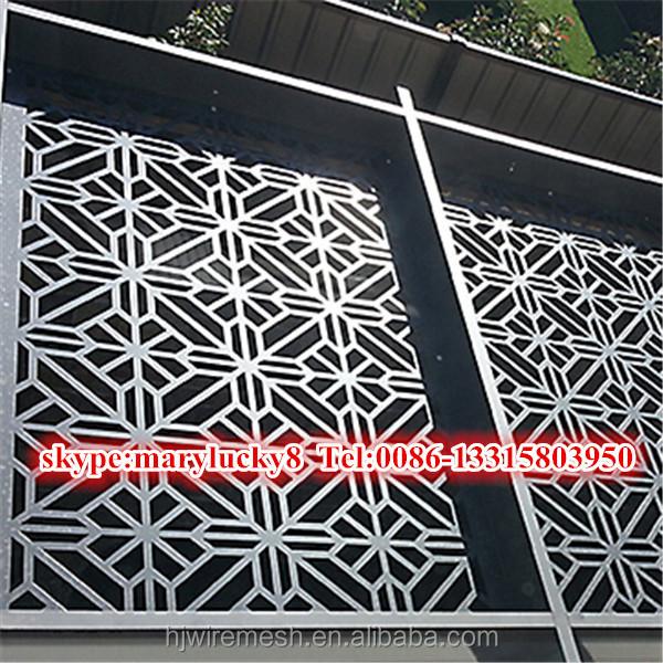 Decorative Decoupe Laser Aluminium Metal Perfore Panneaux 1030025