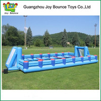 interactive inflatable human foosball inflatable sports arena for commercial use