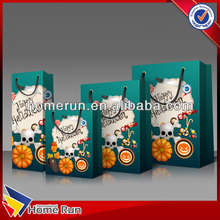 Hot sale promotional paper gift bag / customized paper gift bag with handles