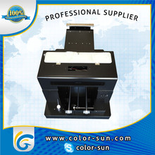 CE approved A3 size for shirts,metal, ceramic, glass, wood, plastic, pvc etc Small flatbed printer