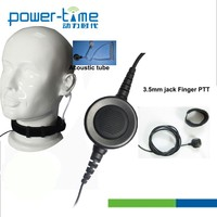 Military Standard Neck belt throat vibration Mic with remote control PTT and high quality cable(PTE-796s)