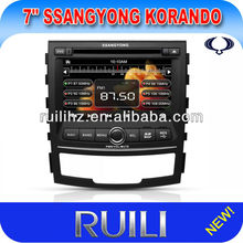 Special 7 inch New Style Touch Screen Car DVD for SsanngYongKorando Build in TV