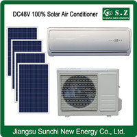 100% DC48V off grid family using standard solar air conditioner for sale