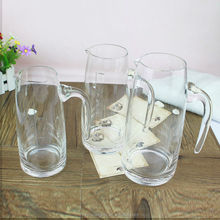 Transparent Clear glass water milk jug Small Glass Pitcher With Handle