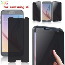 mobile phone accessaries anti-glare phone privacy dark screen protector guard film shield for samusng s6