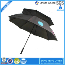 High Quality 2 Layers outside Black and Inside Red Dot Printed Umbrella