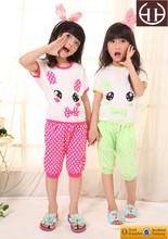 Caliente venta de corea de manga corta para niños rosado Sunny Odile algodón Spandex del algodón del conejo verano