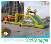 China Wholesale Inflatable Obstacle Castle Animal Theme Park Giraffe Inflatable Games For Adult and Kids Game