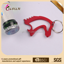 Most popular big manufacturer in zhegjiang china custom shape keychain aluminium bottle opener