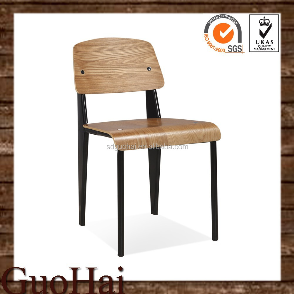 modern mid century colorful metal frame wooden standard dining chair buy wood design dining