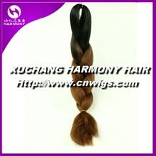 STOCK colorful kanekalon braiding hair wholesale/synthetic hair braiding