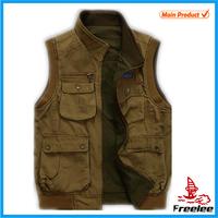 2015 Reversible Custom Fishing Vest, Shooting Hunting Vest for Men