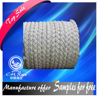 durable 8 strand 136mm pp used ship rope/ anchoring dock line