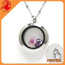 Yiwu Landy's Jewelry Manufacturer,316L Stainless Steel Locket Pendants,Floating Plain Twist Glass Locket