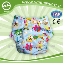 new printed reusable new born baby modern cloth diaper washable