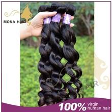 2015 mona hair most selling products grade 7A water wave filipino virgin hair wholesale