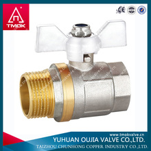 brass ball valves nickel plated made in YUHUAN OUJIA TMOK