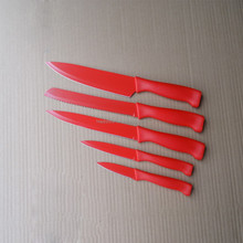 kitchen knife set of 5 pcs non-stick coating knife set