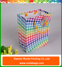 Custom cotton handle strong gift shopping paper bag