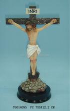 resin christian jesus standing crucifix cross figurine tablet