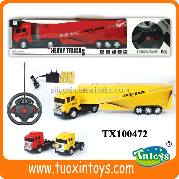 Remote Control Tractor Trailer Trucks : Remote control toy tractor with