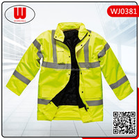 Winter hi vis safety jacket with reflector for promotion